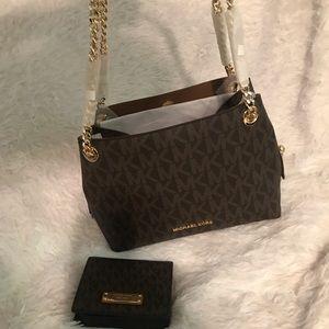 Brown MK bag & matching wallet